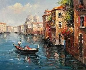Art For Sale Venice Painting Landscape Artwork, Oil Painting, Oil On Canvas, Stretched Canvas Arts | XiaMenFlyArt | TradersCity