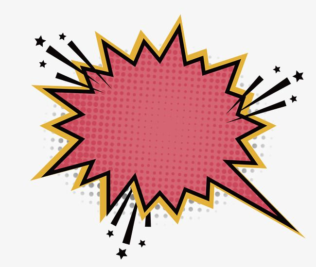 Jagged Pink Explosion Stickers, Vector Material, Serrated