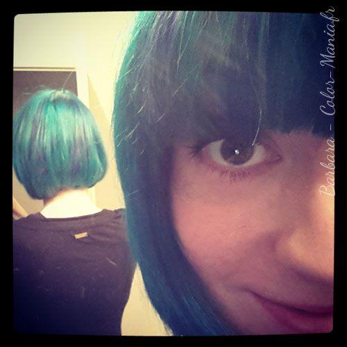 coloration cheveux vert alpin directions color mania - Dcoloration Cheveux Colors
