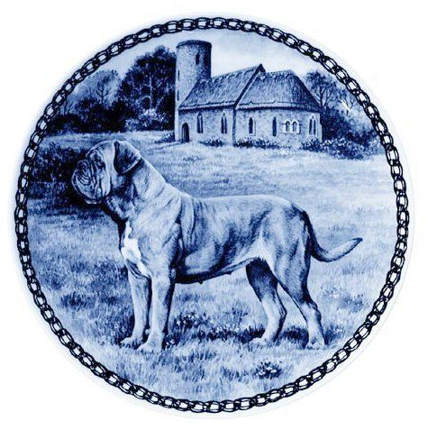 Dogue de Bordeaux / Lekven Design Dog Plate 19.5 cm /7.61 inches Made in Denmark NEW with certificate of origin PLATE -7329 -- Check out this great product. (This is an affiliate link and I receive a commission for the sales)