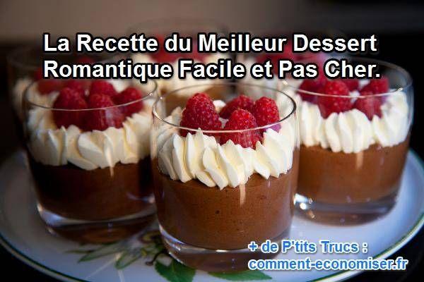 Quoi de mieux qu'une mousse au chocolat ? Mais attention : une mousse au chocolat améliorée. Cette recette pas chère et super facile à faire ne prend que 20 minutes.   Découvrez l'astuce ici : http://www.comment-economiser.fr/dessert-romantique-facile.html?utm_content=buffer6e1a3&utm_medium=social&utm_source=pinterest.com&utm_campaign=buffer