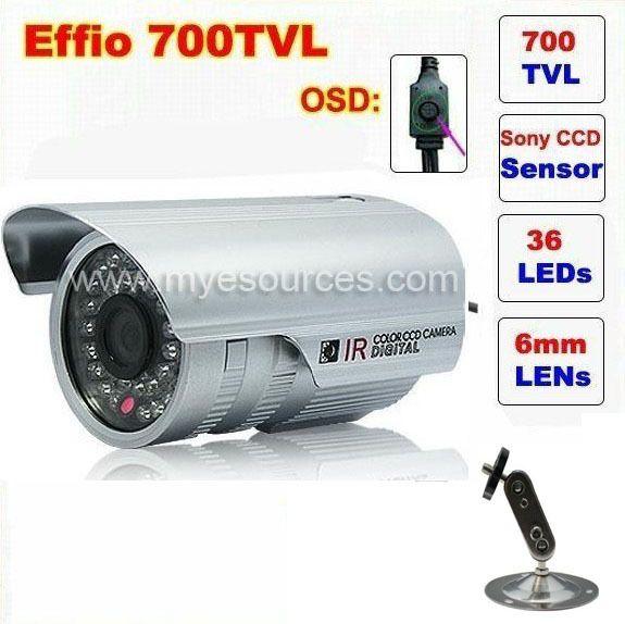"$24.50 (Buy here: https://alitems.com/g/1e8d114494ebda23ff8b16525dc3e8/?i=5&ulp=https%3A%2F%2Fwww.aliexpress.com%2Fitem%2FFree-shipping-low-price-CCTV-Camera-1-3-Sony-Effio-CCD-700TVL-OSD-MENU-IR-25m%2F704656374.html ) Free shipping CCTV Camera 1/3""Sony Effio-e 700TVL 36led with OSD menu Indoor Outdoor camera security IR CCTV Camera with bracket for just $24.50"