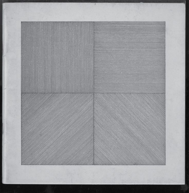 Sol LeWitt, Four basic kinds of straight lines, 1969