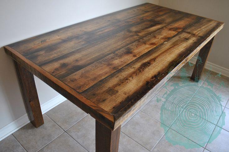 Table En Bois Rustique - 17 meilleures idéesà propos de Dessus De Table En Bois sur Pinterest Tables en bois de