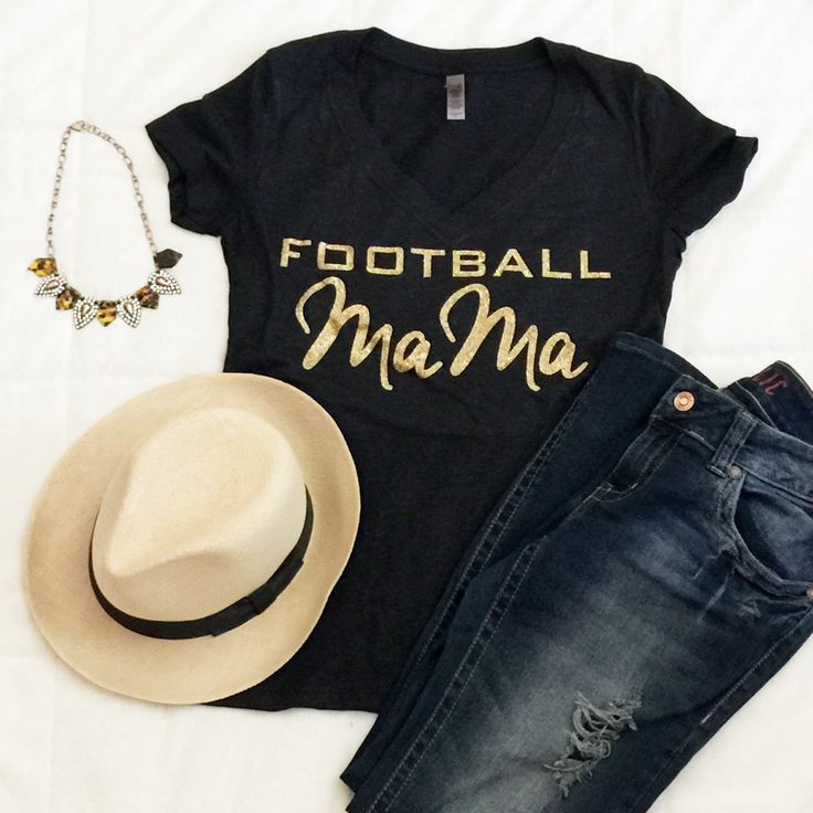 Football Mom Tshirt Custom Glitter Jersey Tee Tailgate