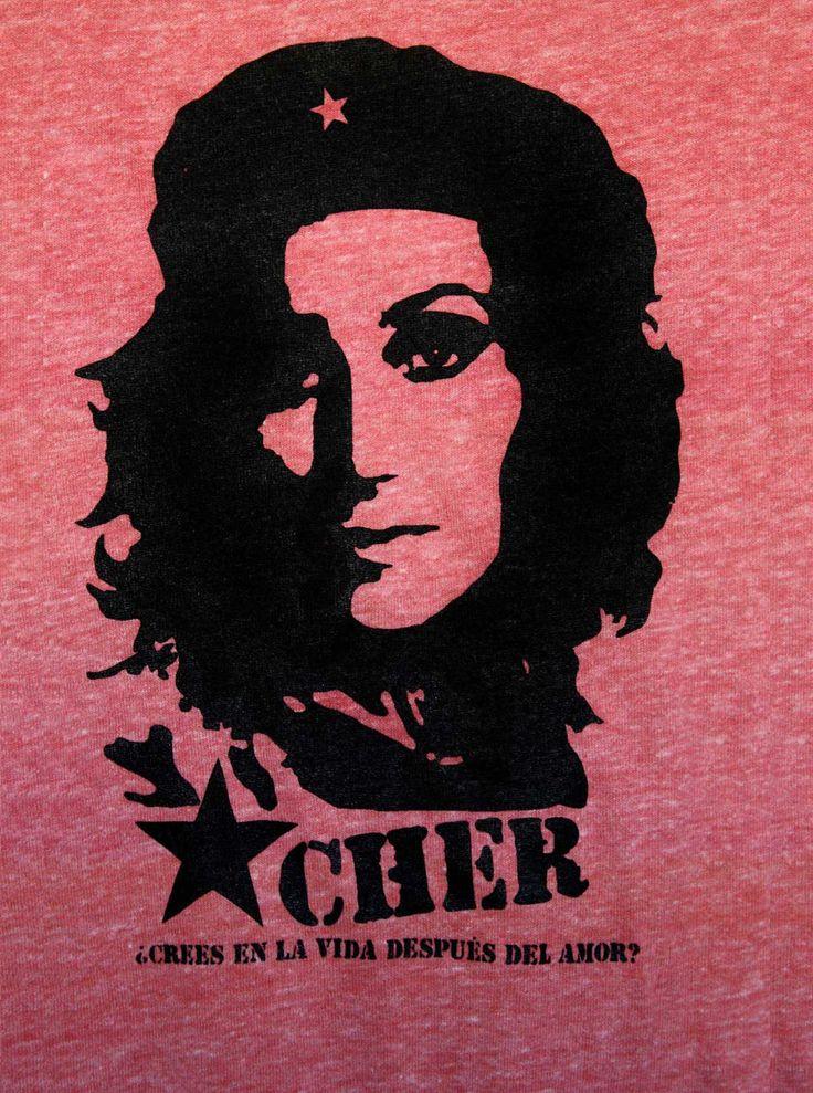 Che / Cher Guevara--Crees en la vida después del amor-- unisex eco-heather tee shirt XXS-XXL. $27.00, via Etsy.