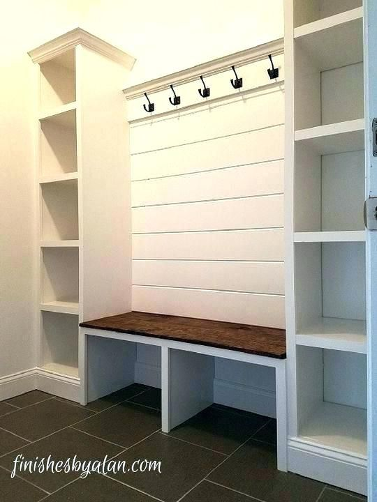 Build A Mudroom Bench Entry Storage Bench Plans Mudroom Storage Bench With Hooks Mudroom Storage Bench Plans Ent Mudroom Laundry Room Home Mudroom Organization
