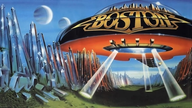 """Fantastic cover art from the second BOSTON album, """"Don't Look Back"""""""