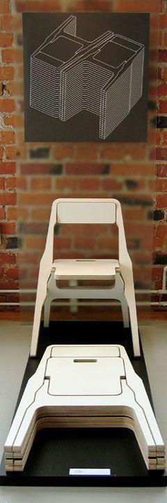 Des chaises en bois pliables pour optimiser au maximum l'espace de rangement #avecdubois