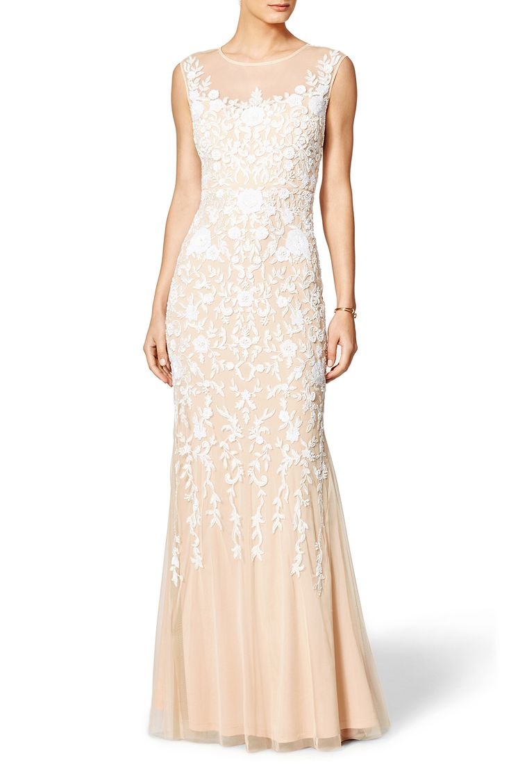 Superb Rent Champagne Gown by Badgley Mischka for only at Rent the Runway