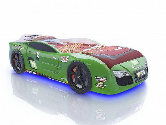 Кровать-машина Romack Renner 2 зеленая