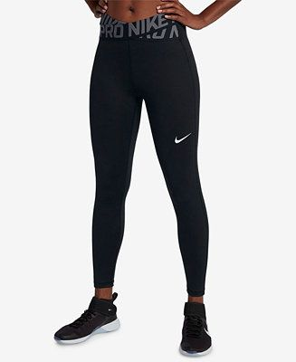 Shop Nike Pro Crossover Waistband Ankle Leggings online at Macys.com. A locked-i... 2
