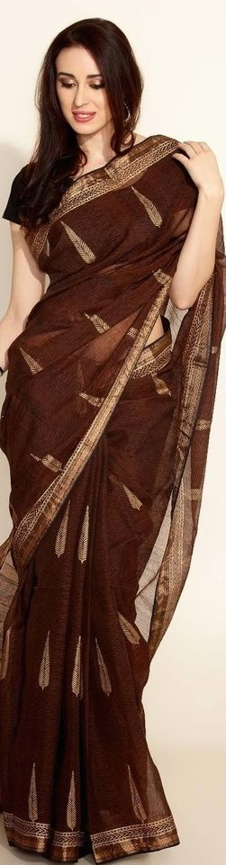 Silk Cotton Maheswari Sari from fabindia - original pin by @webjournal