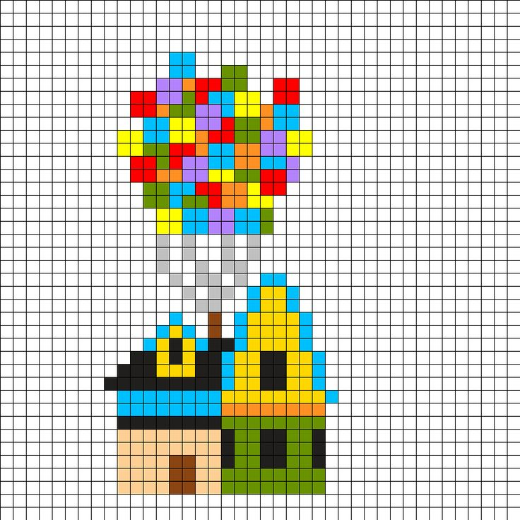 Up House Perler Bead Pattern                                                                                                                                                     More