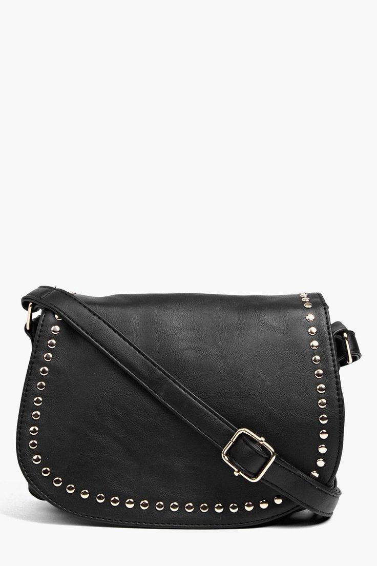 Megan Studded Saddle Bag