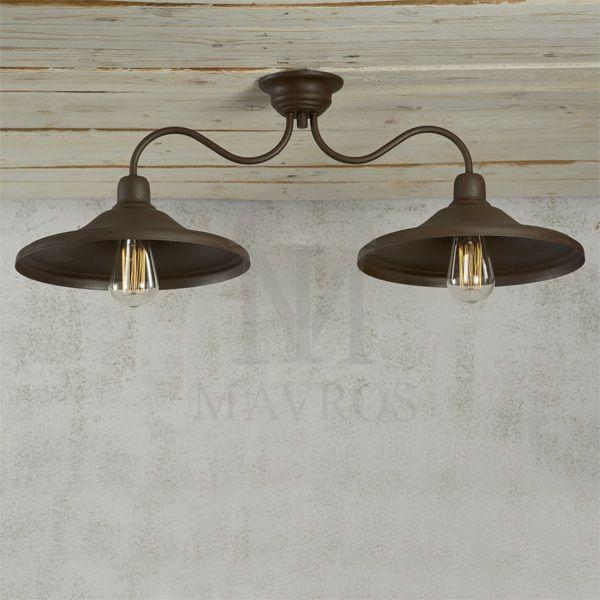 ΜΑΥΡΟΣ -- Handmade roustic ceiling lighting | IOS