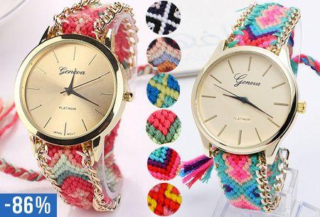 Deze knaller mag je niet missen! Het Geneva Boho horloge brengt jou direct in de vakantiesfeer. Dit horloge kost nu slechts $4.95 #Geneva #horloge