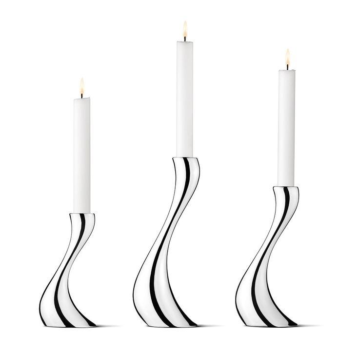 Buy Georg Jensen Cobra Candle Holder - Set of 3 | Amara