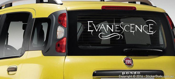 Evanescence Sticker | Worldwide Post | Range Of Sticker Colours
