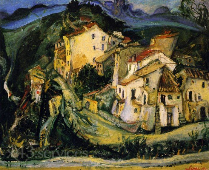 Chaim-Soutine-Haeuser-in-Cagnes-Houses-at-Cagnes.jpg (700×570)