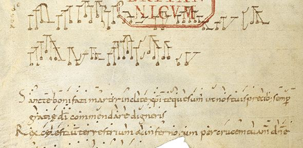 New research has uncovered the earliest known practical piece of polyphonic music, an example of the principles that laid the foundations of European musical tradition. | University of Cambridge