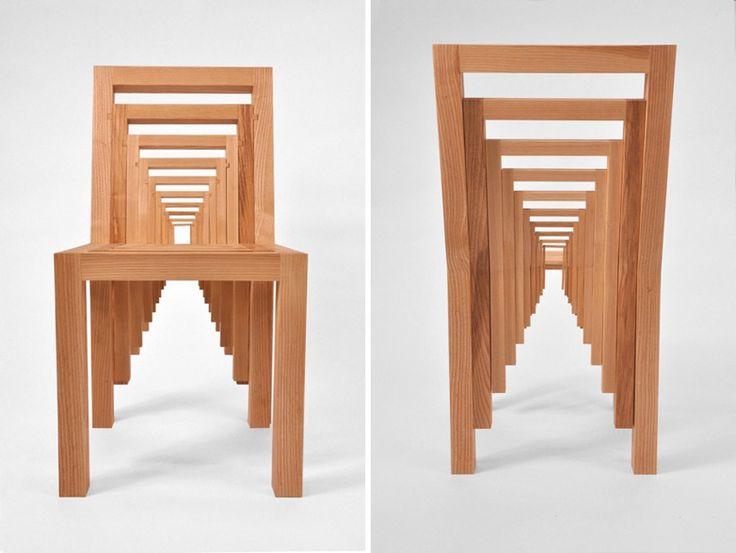 Puzzle Like Inception Chair By Vivian Chiu. Chair DesignFurniture DesignUnique  Wood ...