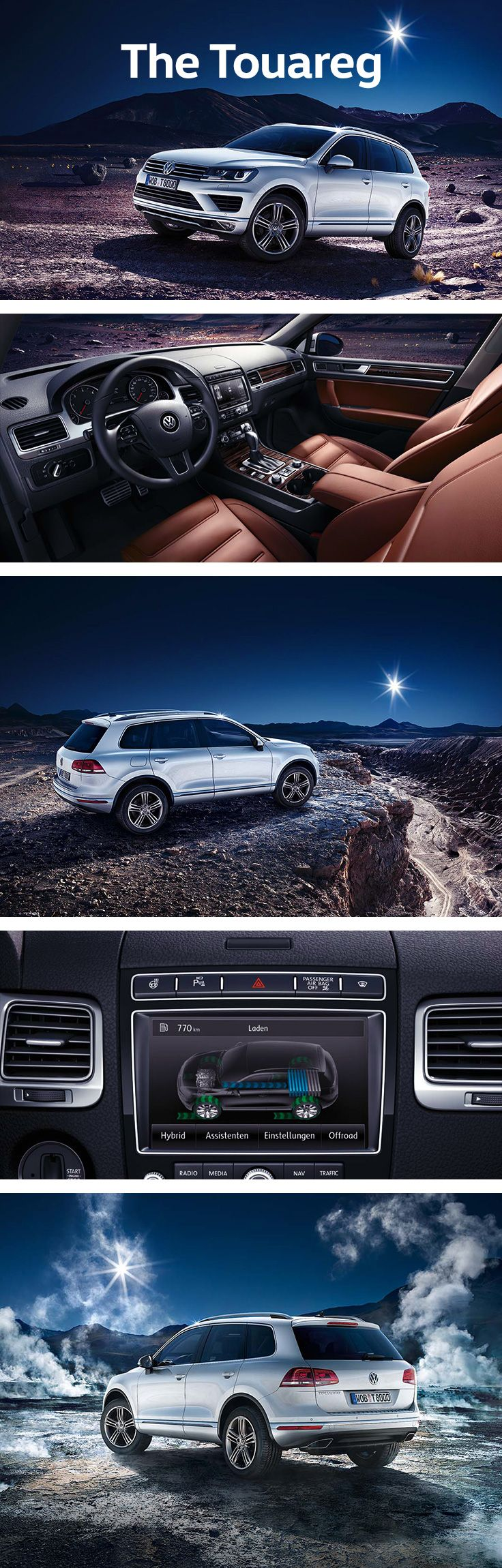 With a focus on comfort both in the city and offroad, the Volkswagen Touareg is a premium SUV that makes driving an elegant, easy experience. The optional Easy Open function enables the driver to open the boot with a simple motion of the foot – while the Keyless Access option means you can open the door or start the engine just by having the key on you. For active lifestyles and adventurous outings, the Touareg can drive through water that is up to 58 cm deep and can climb hills of up to…