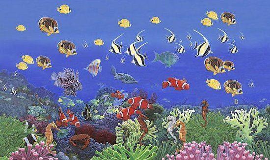 17 best images about mural shark aquarium on pinterest for Aquarium mural wallpaper