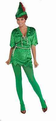 Peter Pan Robin Hood Green Elf Tunic Adult Womens Sexy Costume M/L 721773660214 | eBay