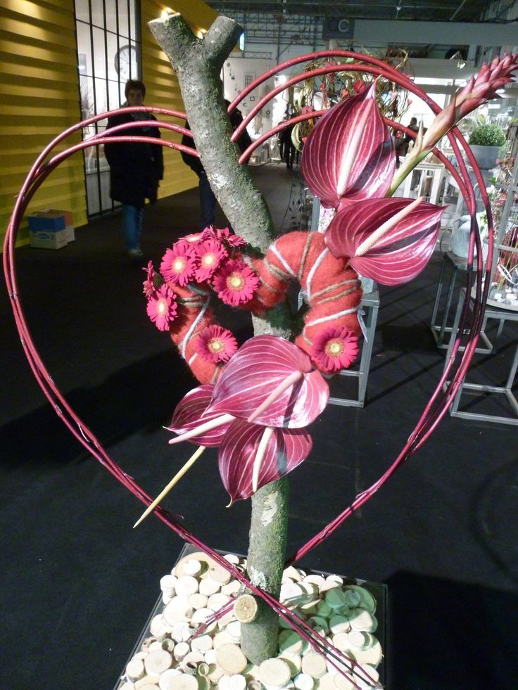Sweet heart. With anthurium.