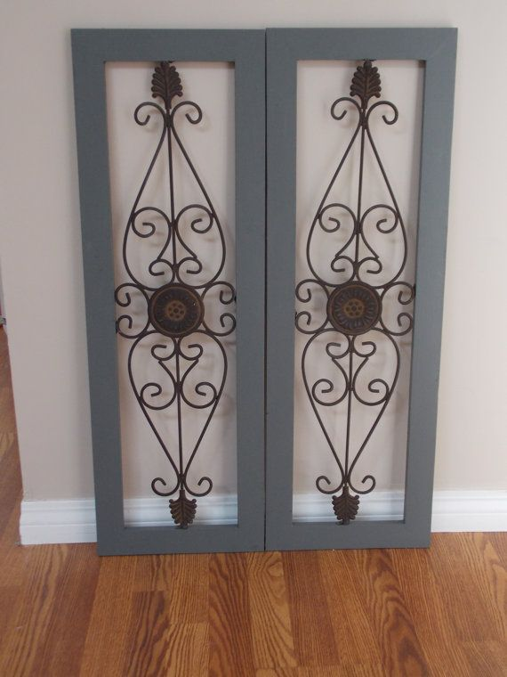 DECO WALL SHUTTERS Sold As PairSteel Gray ColorMetal