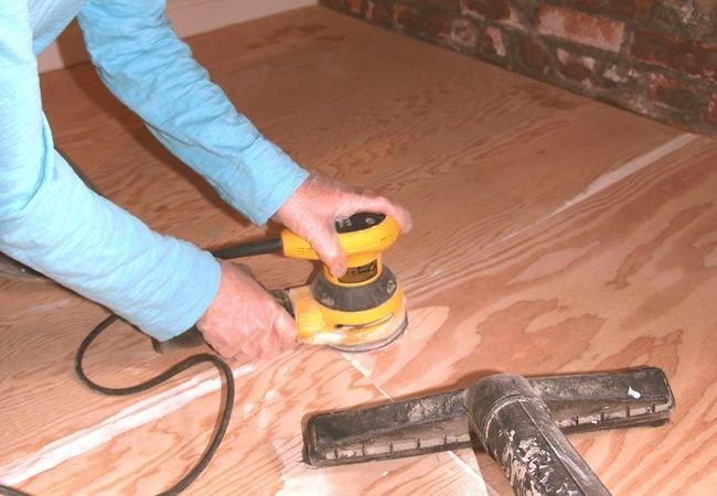 Painted Plywood Floors - Sanding                                                                                                                                                                                 More