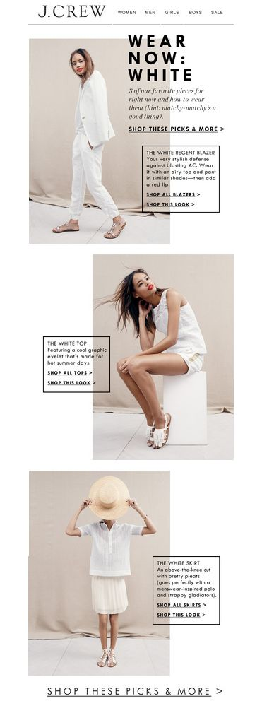 wear now: white