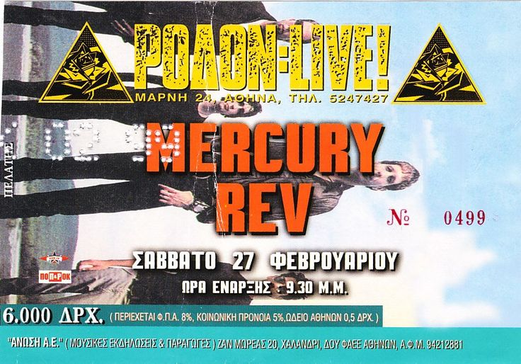 MERCURY REV 27-2-1999 RODON CLUB