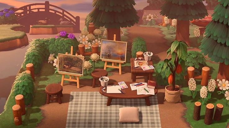a small painting area 🥺🖌 made by crossingyana on twitter ...