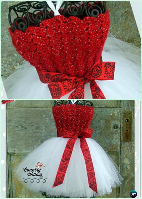 Crochet Christmas Gumdrop Tutu Dress Free Pattern Instructions- #Crochet Tutu Dress Free Patterns