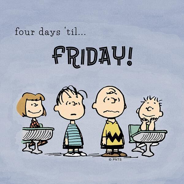 Four days until ...Friday!