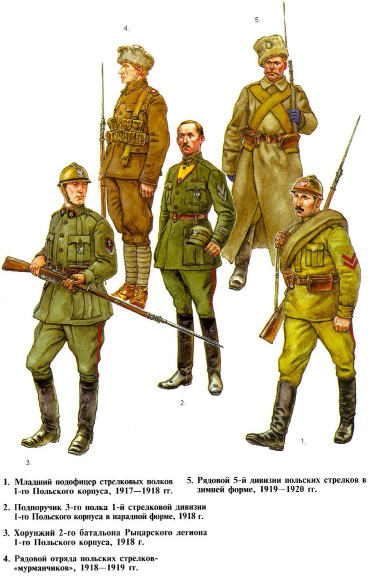 Uniforms Of The Polish Army In 19171920 1 Junior Podofficer Infantry  Regiments