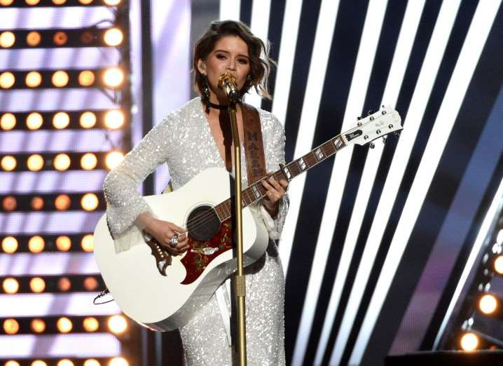 """Winner of this year's New Female Vocalist, Maren Morris sang """"I Could Use a Love Song."""""""