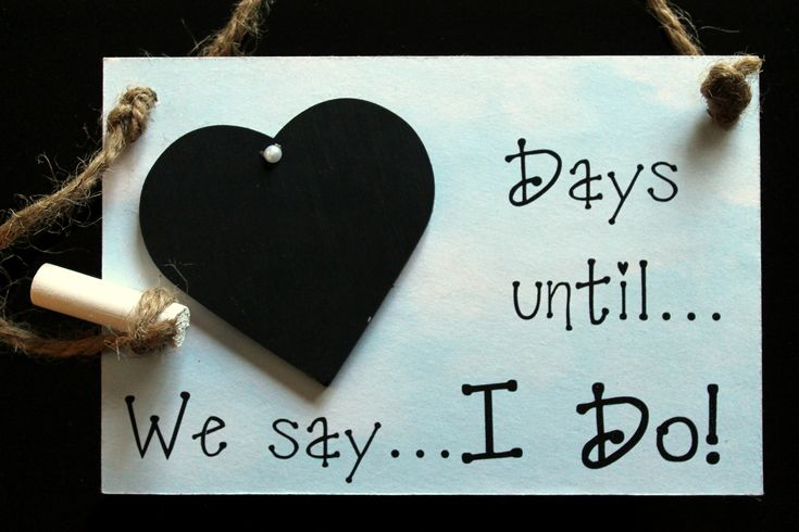 """Engagement gift. Chalkboard Countdown, """"Days Until ... We Say I Do!"""" (Horizontal Board) Countdown the days to your wedding!"""