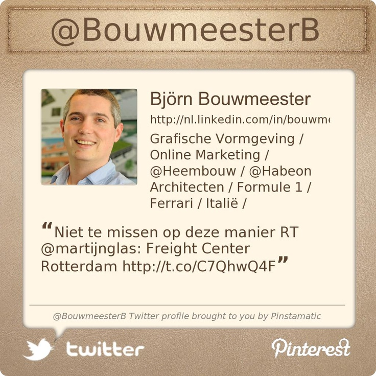 @BouwmeesterB's Twitter profile courtesy of @Pinstamatic (http://pinstamatic.com)