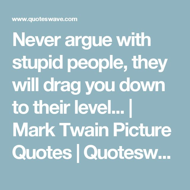 Never Argue With Stupid People Quote: 17 Best Arguing Quotes On Pinterest