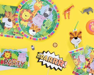 Zoo/ Jungle themed children's party items including party bags and other party accessories we have also bundled these up so you have everything you need to have a great Jungle party.
