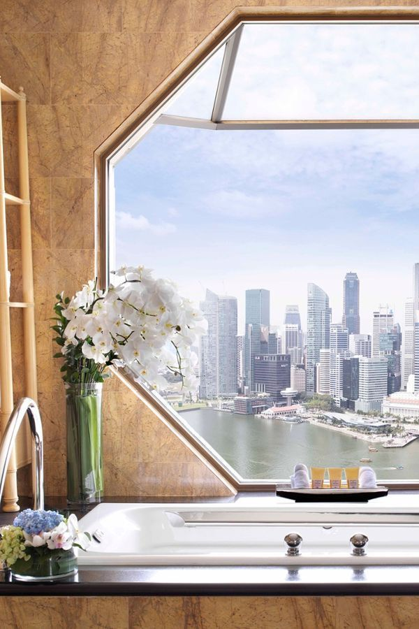 View from the soaking tub aren't too shabby. The Ritz-Carlton, Millenia Singapore (Singapore) - Jetsetter