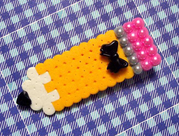 Writers block brooch perler bead
