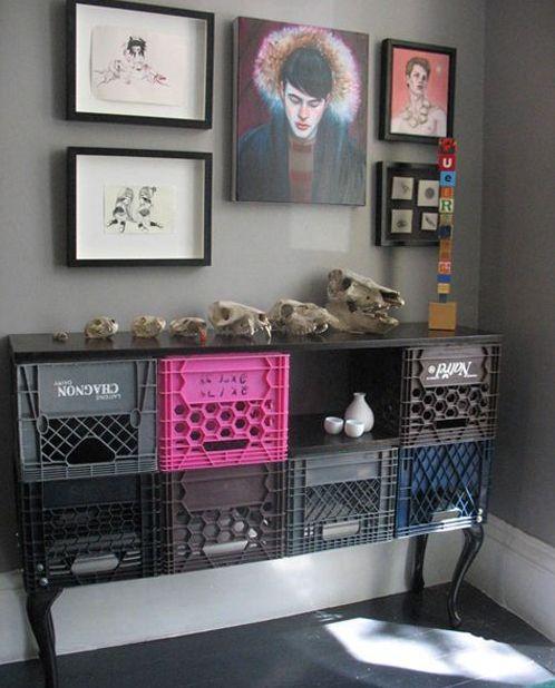 910 Plastic crates decoration ideas
