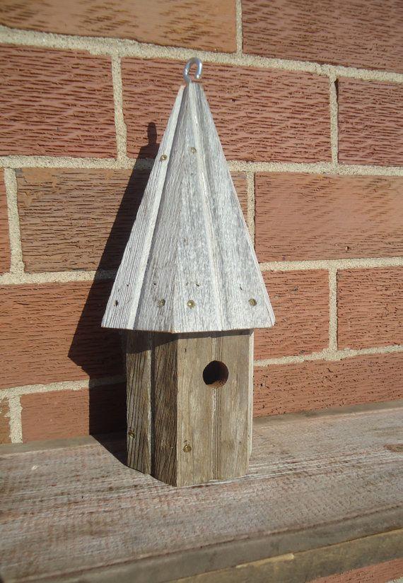 Redwood birdhouse  Round birdhouse  Tall by OsborneArtwork on Etsy