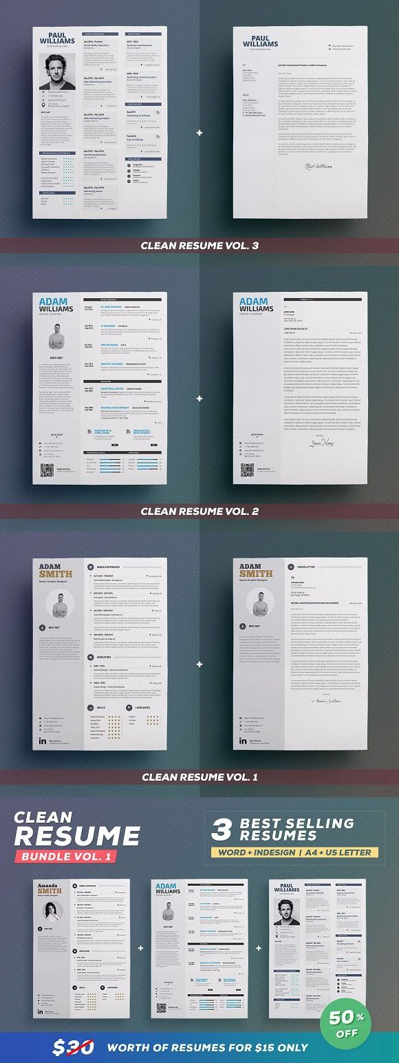 good objective on a resume%0A Clean Resume  Bundle Edition Vol    anycolor  clean