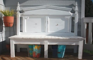 Blogger claims this is a garden bench (I could see this as a pretty buffet in a dinning room)