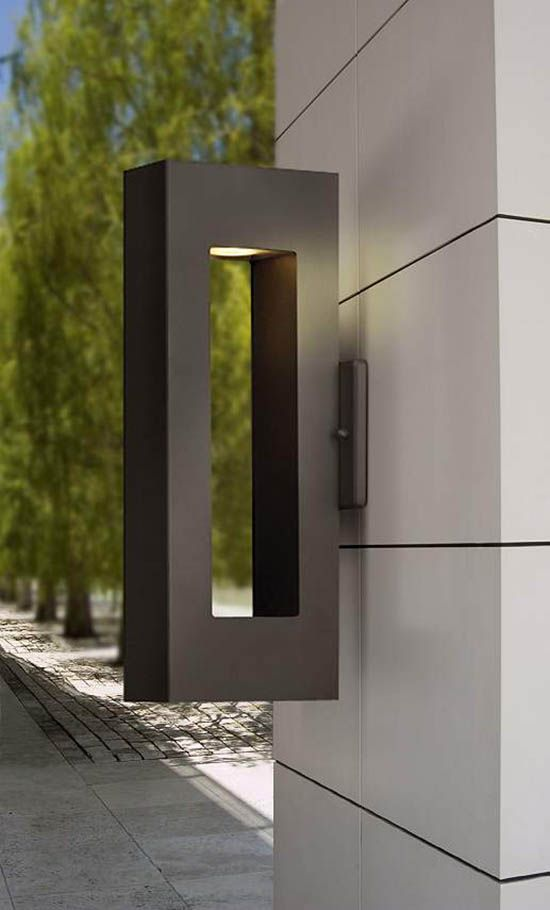 Dark Sky approved contemporary outdoor wall light in a bronze finish.
